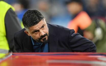 """Gattuso: """"Toccato il fondo, squadra in ritiro"""""""