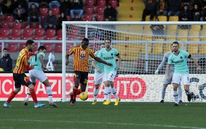 Lecce-Inter 1-0 LIVE, la sblocca Bastoni di testa