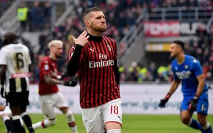 Doppietta di Rebic, il Milan batte 3-2 l'Udinese