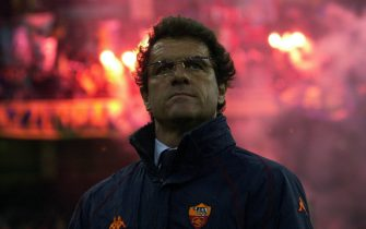 MILAN - APRIL 6:  A portrait of Roma coach Fabio Capello taken during the Serie A match between Inter Milan and Roma, played at the Giuseppe Meazza San Siro Stadium, Milan, Italy on April 6, 2003.  (Photo by Grazia Neri/Getty Images)