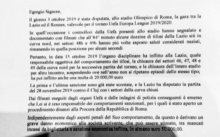 Lettera Lotito