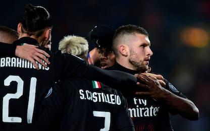 Rebic e super Gigio: il Milan vince 1-0 a Brescia