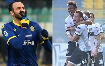 Parma vola al 6° posto. Vince il Verona, pari Samp