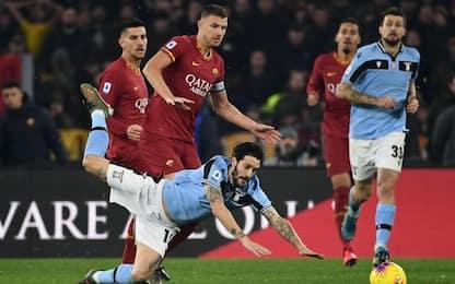 Acerbi risponde a Dzeko, Roma-Lazio 1-1