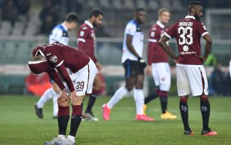 Torino's players show their dejection at the end of the Italian Serie A soccer match Torino FC vs Atalanta BC at the Olimpico Grande Torino stadium in Turin, Italy, 25 January 2020. ANSA/ALESSANDRO DI MARCO