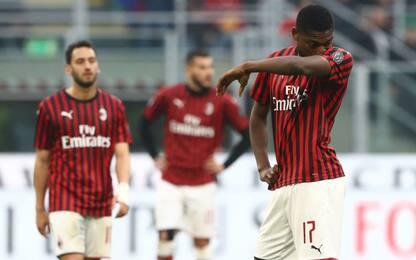Il Milan non mette la quarta: con il Verona è 1-1