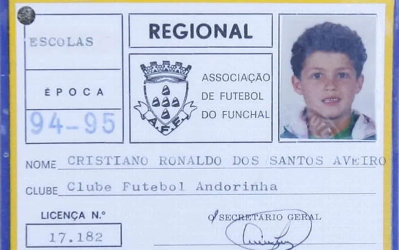 Cristiano Ronaldo ai tempi dell'Andorinha