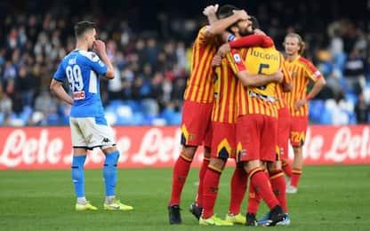 Il Napoli crolla al San Paolo: il Lecce vince 3-2