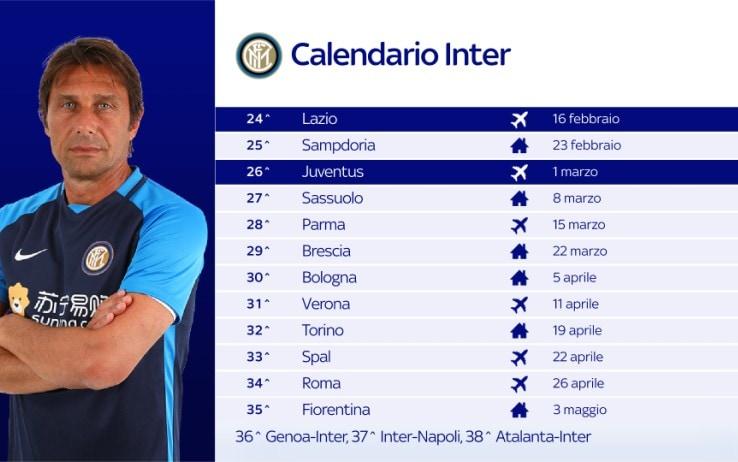 Il calendario dell'Inter