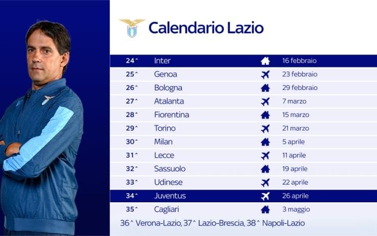 Il calendario della Lazio