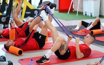 AC Milan, sessione di allenamento a Milanello