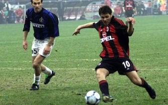 MILANO 7/1/2001 CALCIO MILAN INTER BOBAN PAREGGIA ANSA CARLO FERRARO