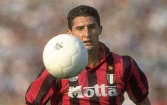 1995:  Daniele Massaro of AC Milan in action during a match. \ Mandatory Credit: Ben  Radford/Allsport