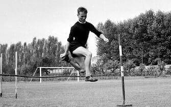 © Silvio Durante / LaPresseArchivio storicoTorino 18-08-1956Kurt Hamrin in allenamentoNella foto: il nuovo acquisto Kurt Hamrin in allenamentoneg- 154000