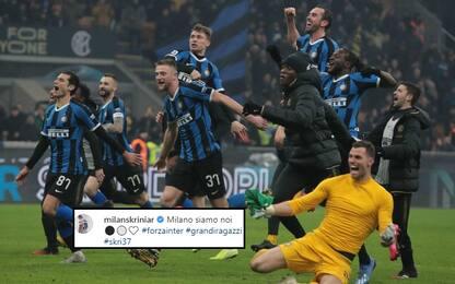 """L'Inter fa festa sui social: """"Milano siamo noi"""""""