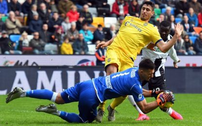 Udinese e Verona: poche emozioni e pari senza gol