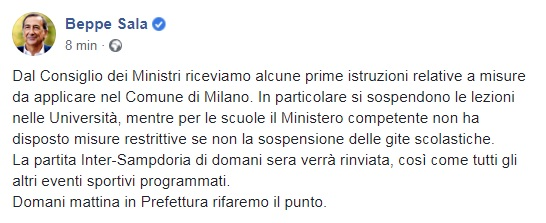 Coronavirus Serie A Rinviata Anche Torino Parma In Totale Sono 4 Le Partite Posticipate Sky Sport