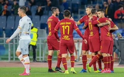 Poker al Lecce, la Roma torna a vincere