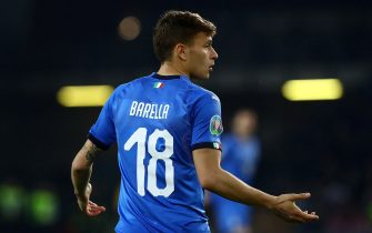 UDINE, ITALY - MARCH 23: Nicolò Barella of Italy gestures during the 2020 UEFA European Championships group J qualifying match between Italy and Finland at Stadio Friuli on March 23, 2019 in Udine, Italy. (Photo by Marco Luzzani/Getty Images)