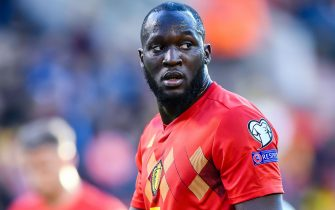 Romelu Lukaku of Belgium during the UEFA EURO 2020 qualifier group I match between Belgium and Kazachstan at the King Baudouin Stadium on June 08, 2019 in Brussels, Belgium(Photo by VI Images via Getty Images)