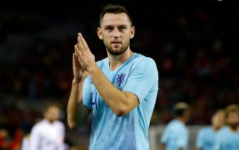 , BELGIUM - OCTOBER 16: Stefan de Vrij of Holland  during the  International Friendly match between Belgium  v Holland  on October 16, 2018 (Photo by Laurens Lindhout/Soccrates/Getty Images)