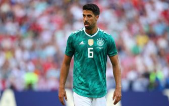 KAZAN, RUSSIA - JUNE 27:  Sami Khedira of Germany in action during the 2018 FIFA World Cup Russia group F match between Korea Republic and Germany at Kazan Arena on June 27, 2018 in Kazan, Russia. (Photo by Matthew Ashton - AMA/Getty Images)
