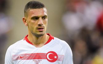 Merih Demiral of Turkey during the UEFA EURO 2020 qualifier group C qualifying match between France v Turkye at Stade de France on October 14, 2019 in Paris, France(Photo by ANP Sport via Getty Images)