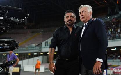 Napoli, Gattuso a 9 vittorie: sorpassato Ancelotti