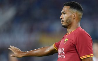 ROME, ITALY - AUGUST 25: Juan Jesus of AS Roma in action during the Serie A match between AS Roma and Genoa CFC at Stadio Olimpico on August 25, 2019 in Rome, Italy. (Photo by Francesco Pecoraro/Getty Images)