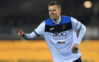 TURIN, ITALY - JANUARY 25:  Josip Ilicic of Atalanta BC celebrates a goal during the Serie A match between Torino FC and  Atalanta BC at Stadio Olimpico di Torino on January 25, 2020 in Turin, Italy.  (Photo by Valerio Pennicino/Getty Images)