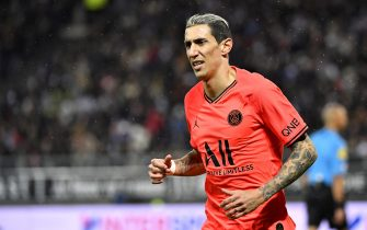 AMIENS, FRANCE - FEBRUARY 15: Angel Di Maria of Paris Saint-Germain reacts during the Ligue 1 match between Amiens and Paris at Stade de la Licorne on February 15, 2020 in Amiens, France. (Photo by Aurelien Meunier/Getty Images)