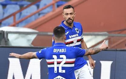 Quagliarella ribalta il Verona: la Samp vince 2-1