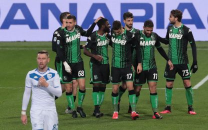 Caputo show: il Sassuolo cala il tris al Brescia