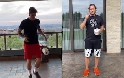 Zaniolo, Totti e la carta igienica: che palleggi!