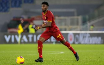 ROME, ITALY - DECEMBER 15: Amadou Diawara of AS Roma in action during the Serie A match between AS Roma and SPAL at Stadio Olimpico on December 15, 2019 in Rome, Italy. (Photo by Giampiero Sposito/Getty Images)
