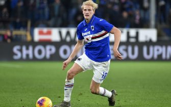 GENOA, ITALY - DECEMBER 08: Morten Thorsby of UC Sampdoria in action during the Serie A match between UC Sampdoria and Parma Calcio at Stadio Luigi Ferraris on December 8, 2019 in Genoa, Italy. (Photo by Paolo Rattini/Getty Images)