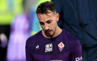 FLORENCE, ITALY - NOVEMBER 30: Gaetano Castrovilli manager of ACF Fiorentina shows his dejection during the Serie A match between ACF Fiorentina and US Lecce at Stadio Artemio Franchi on November 30, 2019 in Florence, Italy.  (Photo by Gabriele Maltinti/Getty Images)