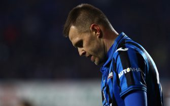 BERGAMO, ITALY - JANUARY 20:  Josip Ilicic of Atalanta BC shows his dejection during the Serie A match between Atalanta BC and SPAL at Gewiss Stadium on January 20, 2020 in Bergamo, Italy.  (Photo by Marco Luzzani/Getty Images)