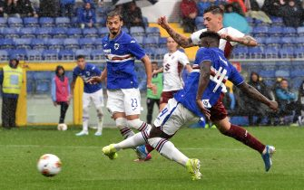 GENOA, ITALY - SEPTEMBER 22: Ronaldo Vieira of UC Sampdoria in action during the Serie A match between UC Sampdoria and Torino FC at Stadio Luigi Ferraris on September 22, 2019 in Genoa, Italy. (Photo by Paolo Rattini/Getty Images)