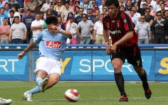© Francesco Pecoraro - LaPresse Napoli 11-05-2008Sport Calcio Napoli - Milan Campionato TIM Serie A 2007/08Nella foto: il gol di hamsik del 1-0