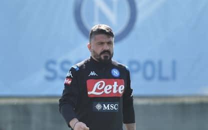 Napoli, 1' di silenzio per la sorella di Gattuso