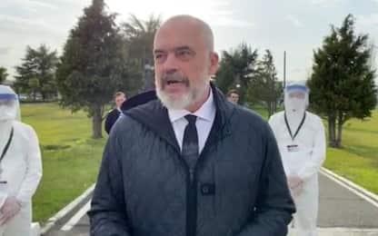 """Il premier albanese: """"Siamo tutti italiani"""". VIDEO"""
