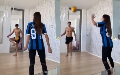 Lady Candreva, che pallonata al lampadario! VIDEO