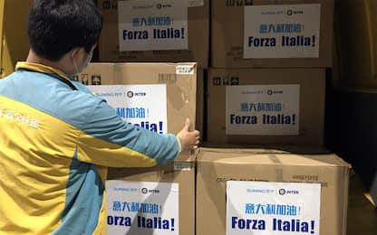 Inter, dalla Cina 300mila mascherine per l'Italia