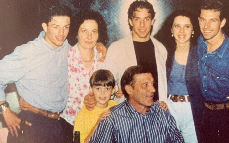 La famiglia Del Piero, al centro Alex e il padre Gino