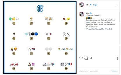 I giocatori dell'Inter come emoji: li riconosci?