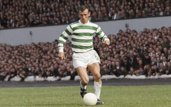 GLASGOW, UNITED KINGDOM - AUGUST 05:  Glasgow Celtic winger Bobby Lennox in action during a friendly match against Tottenham Hotspur at Hampden Park on August 5, 1967 in Glasgow, Scotland. (Photo by Don Morley/Allsport/Getty Images)