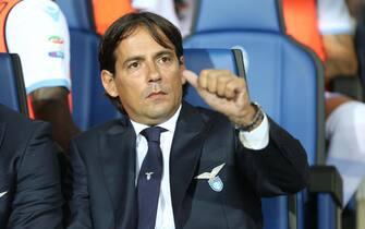 Lazio's coach Simone Inzaghi prior the Italian Serie A soccer match Atalanta BC vs SS Lazio at Atleti Azzurri d'Italia stadium in Bergamo, Italy, 21 August 2016.ANSA/PAOLO MAGNI
