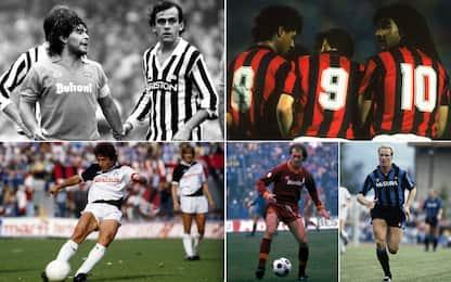 Maradona, Platini e i campioni anni '80. FOTO