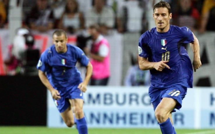 Totti e Del Piero durante la semifinale del Mondiale 2006 contro la Germania